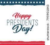happy presidents day label....   Shutterstock .eps vector #795901843