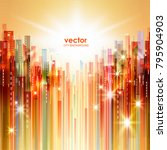 abstract colouful night city... | Shutterstock .eps vector #795904903