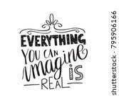 everything you can imagine is... | Shutterstock .eps vector #795906166