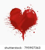watercolor painted vector red... | Shutterstock .eps vector #795907363