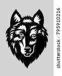 wolf head   vector illustration ... | Shutterstock .eps vector #795910216