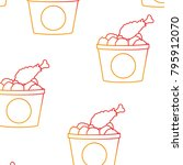 chicken background design | Shutterstock .eps vector #795912070