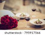 Romantic Dinner Settings. Two...