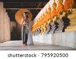 thailand or thai costume asian... | Shutterstock . vector #795920500