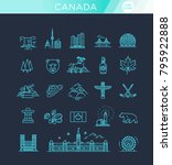 travel canada traditional... | Shutterstock .eps vector #795922888