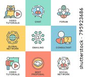 icons of communication of... | Shutterstock .eps vector #795923686