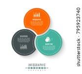 vector circle infographics... | Shutterstock .eps vector #795923740