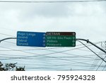 street sign in curitiba  state... | Shutterstock . vector #795924328