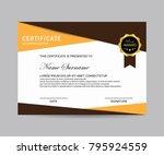 modern certificate vector | Shutterstock .eps vector #795924559