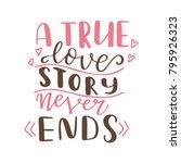 valentine day poster. hand... | Shutterstock .eps vector #795926323