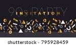 abstract modern geometry motif... | Shutterstock .eps vector #795928459