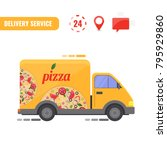 delivery truck. concept of the... | Shutterstock .eps vector #795929860