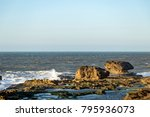 rocks on the ocean at essawira ... | Shutterstock . vector #795936073