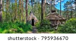 traditional dwelling of... | Shutterstock . vector #795936670