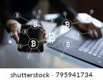 bitcoin cryptocurrency.... | Shutterstock . vector #795941734