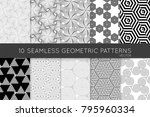 collection of black and white... | Shutterstock .eps vector #795960334