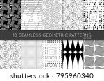 collection of black and white... | Shutterstock .eps vector #795960340