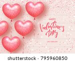 happy valentines day festive... | Shutterstock .eps vector #795960850