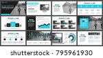 blue business presentation...   Shutterstock .eps vector #795961930