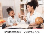mom and daughter together do... | Shutterstock . vector #795963778