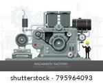 factory industrial machine... | Shutterstock .eps vector #795964093