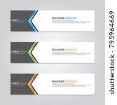 banner background modern vector ... | Shutterstock .eps vector #795964669
