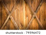 Wooden Door With Two Crosses