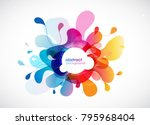 abstract colored flower... | Shutterstock .eps vector #795968404
