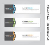 banner background modern vector ... | Shutterstock .eps vector #795969469