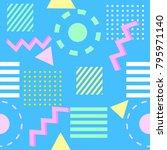 seamless vintage vector ... | Shutterstock .eps vector #795971140