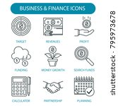 business and finance icons set. ... | Shutterstock .eps vector #795973678