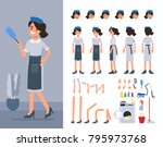 maid woman character... | Shutterstock .eps vector #795973768