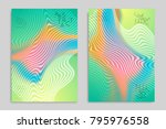 abstract cover template with... | Shutterstock .eps vector #795976558