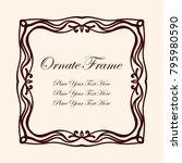 vintage decorative frame.... | Shutterstock .eps vector #795980590