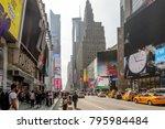 new york  usa   sep 16  2017 ... | Shutterstock . vector #795984484