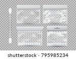vector set of realistic cotton... | Shutterstock .eps vector #795985234