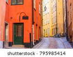 colorful facades of houses on...   Shutterstock . vector #795985414