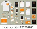 brand identity template vector... | Shutterstock .eps vector #795990700