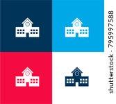 school building four color... | Shutterstock .eps vector #795997588