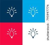 lightbulb creative symbol four... | Shutterstock .eps vector #795997774