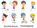 vector illustration of cartoon... | Shutterstock .eps vector #795998098