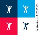 loudspeaker four color material ... | Shutterstock .eps vector #795998383