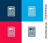 calculator four color material...
