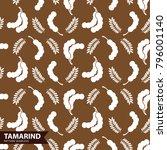 tamarind seamless pattern...   Shutterstock .eps vector #796001140