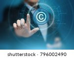 patent law copyright... | Shutterstock . vector #796002490