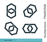 hexagon shape infinity icon... | Shutterstock .eps vector #796002508