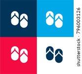 flip flops four color material... | Shutterstock .eps vector #796003126