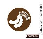 tamarind icon vector...   Shutterstock .eps vector #796003300
