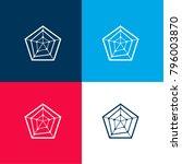 radar chart with pentagon shape ...   Shutterstock .eps vector #796003870