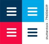menu symbol of three parallel...